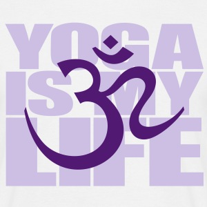 Yoga is my life. OM symbol sign yoga meditasjon T-skjorter - T-skjorte for menn