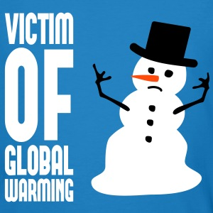 Victim of global warming - Schneemann T-Shirts - Männer Bio-T-Shirt