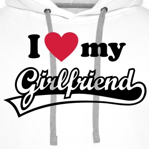 I love my Girlfriend - J'aime ma petite amie. Sweat-shirts - Sweat-shirt à capuche Premium pour hommes
