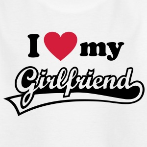 I love my Girlfriend  Valentinstag Ich liebe Dich - Teenager T-Shirt