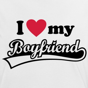 I love my Boyfriend - Valentine's Day  T-Shirts - Women's Ringer T-Shirt