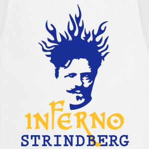 Inferno_Strindberg_on-white_3c  Aprons - Cooking Apron