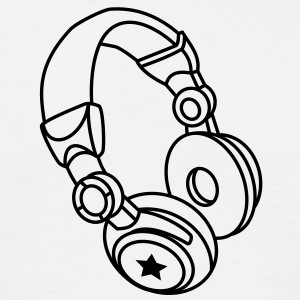Headphones - Star Tee shirts - T-shirt Homme