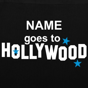NAME + goes to HOLLYWOOD | Stofftasche - Stoffbeutel