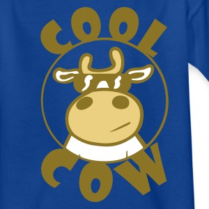 Royal blue Cool Cow Kid's Shirts  - Teenage T-shirt