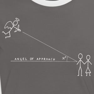 Angle of Approach (White) T-Shirts - Women's Ringer T-Shirt