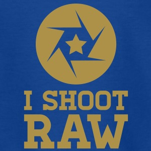 I Shoot RAW - Star Shirts - Kids' T-Shirt