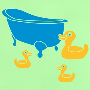 Vintage Retro Comic Swimming Pool Ducks Holiday Tee shirts - T-shirt Bébé