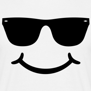 good humor funny Smiley with sunglasses Glasses T-Shirts - Men's T-Shirt