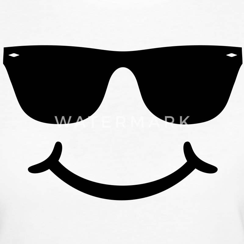 goed humeur grappige Smiley met zonnebril bril T-shirts - Vrouwen Bio-T-shirt