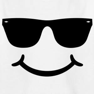 good humor funny Smiley with sunglasses Glasses Shirts - Teenage T-shirt