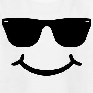 good humor funny Smiley with sunglasses Glasses Shirts - Kids' T-Shirt