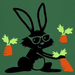 A rabbit with sunglasses in a carrot field  Aprons - Cooking Apron