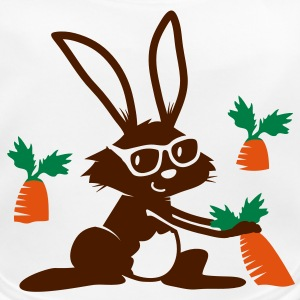 A rabbit with sunglasses in a carrot field Accessories - Baby Organic Bib
