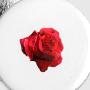 rose-flower painting Buttons - Buttons small 25 mm