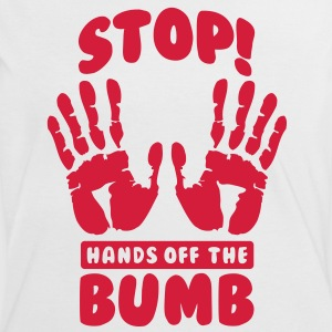 Stop! Hands off the bumb T-shirts - Kontrast-T-shirt dam