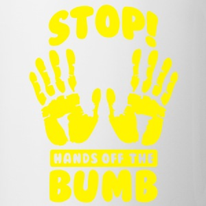 Stop! Hands off the bumb Flaschen & Tassen - Tasse