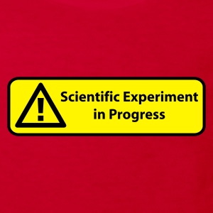 Red Scientific experiment in progress Kids' Shirts - Kids' Organic T-shirt