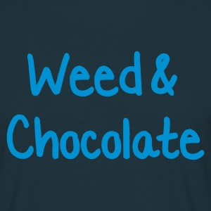 Navy Weed and Chocolate T-Shirts - Männer T-Shirt
