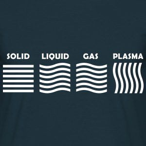 The 4 Phases of Matter: SOLID, LIQUID, GAS, PLASMA T-Shirts - Men's T-Shirt