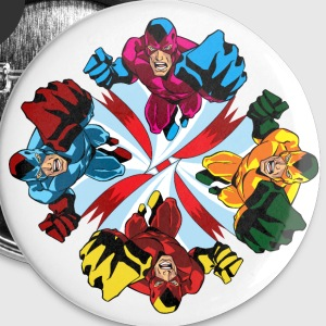 Flying Fist - Buttons large 56 mm