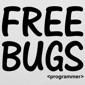 Free Bugs built a Programmer thinking of Free Hugs Taschen - Stoffbeutel