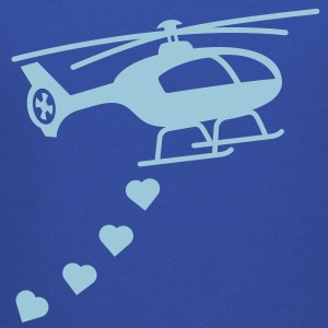 Army Helicopter Bombing Love Hoodies - Kids' Premium Hoodie