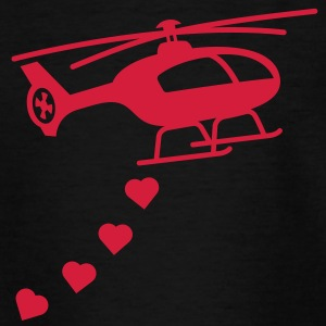 Army Helicopter Bombing Love Shirts - Teenage T-shirt