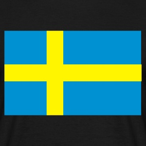 Black Swedish Flag Men's Tees - Men's T-Shirt