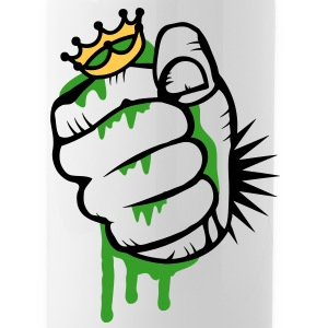 A fist crushing the frog king Bottles & Mugs - Water Bottle