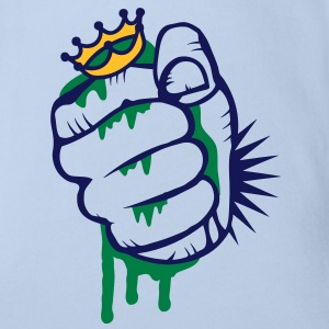 A fist crushing the frog king Shirts - Organic Short-sleeved Baby Bodysuit
