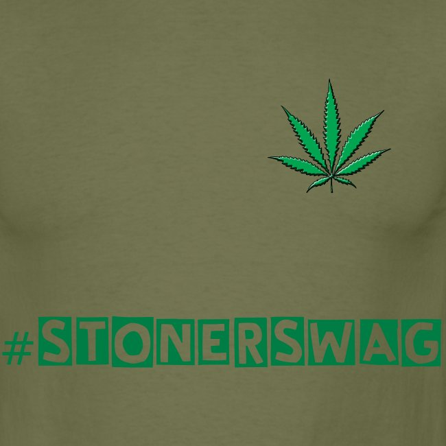 #stonerswag Mens black t-shirt