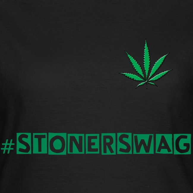 #stonerswag womens black t-shirt
