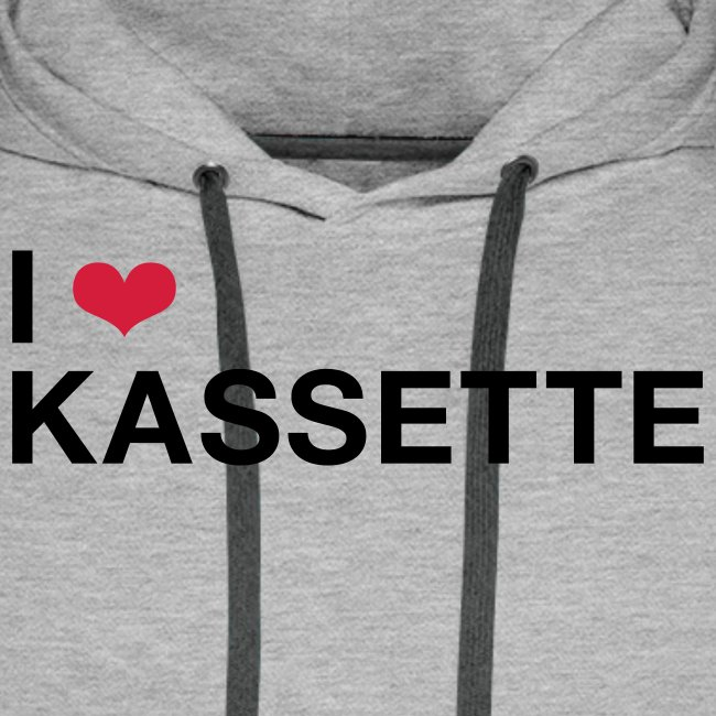 I Love KASSETTE - Men's Hooded Sweatshirt