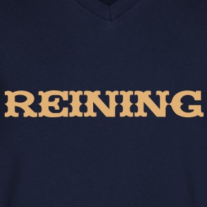 Reining T-Shirts - Men's V-Neck T-Shirt