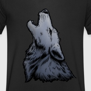 Wolf Howl T-Shirts - Men's V-Neck T-Shirt