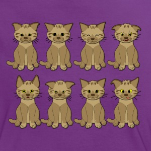 cat mood T-shirts - Vrouwen contrastshirt