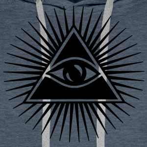 All seeing eye, pyramid, Freemason, God, Horus Sweatshirts - Herre Premium hættetrøje