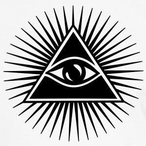 All seeing eye, pyramid, Freemason, God, Horus T-shirts - Mannen contrastshirt