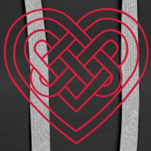 Celtic heart, endless knots, love & loyalty Gensere - Premium hettegenser for kvinner