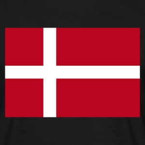 Black Danish Flag Men's Tees - Men's T-Shirt