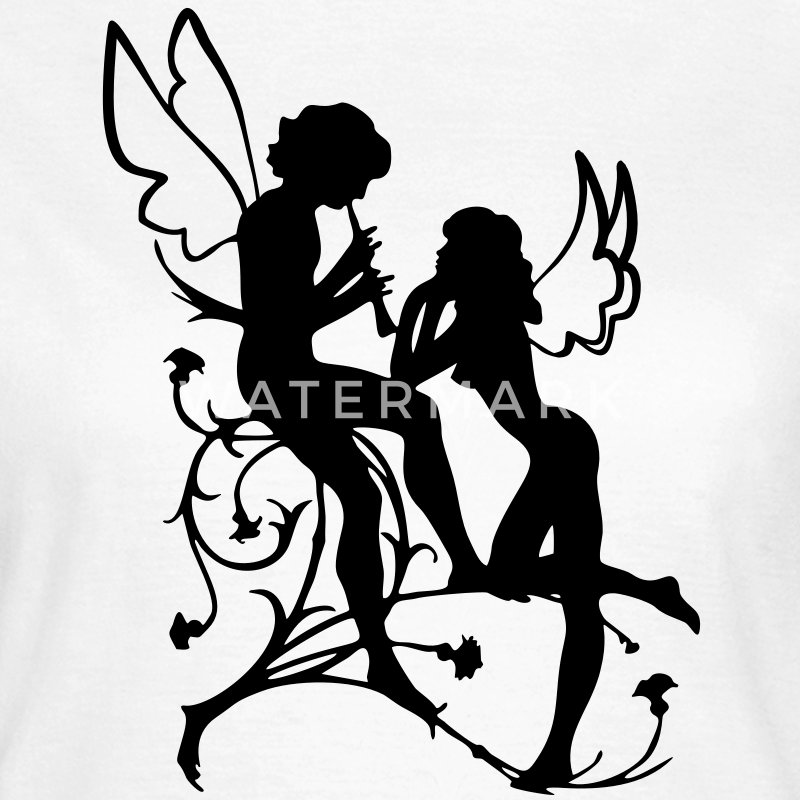 Angel, fairy, elf, magic, silhouette vector T-Shirts - Women's T-Shirt