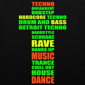 Techno Dance Music House Rave Drum Beat Bass Taschen - Stoffbeutel