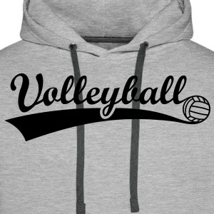 Volley-ball balle Sweat-shirts - Sweat-shirt à capuche Premium pour hommes