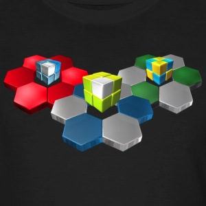 3D Cubes & Hex - Men's Organic T-shirt