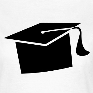 Mortarboard. PhD student exam examination  T-Shirts - Women's T-Shirt
