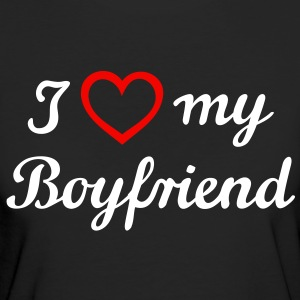 I love my Boyfriend. I love my boyfriend. Vriend,  T-shirts - Vrouwen Bio-T-shirt