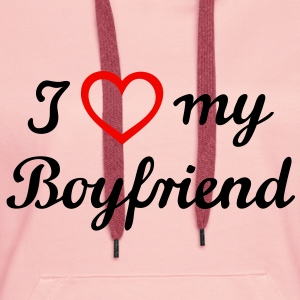I love my boyfriend. Ami de l'homme mari Sweat-shirts - Sweat-shirt à capuche Premium pour femmes