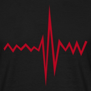 Black Pulse Rate Men's Tees - Men's T-Shirt