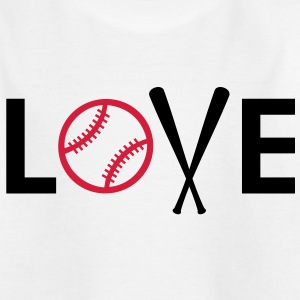 I love baseball. Baseball Bat and Ball Shirts - Kids' T-Shirt